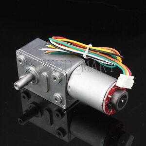 Hightorque Turbo worm Geared motorGW370 DC12V 6RPM motor with encoder
