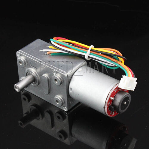 Hightorque Turbo worm Geared motor GW370 DC12V 37RPM motor with encoder