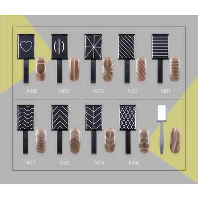 Magnet Plate Wand Board Polish Cats Eyes Nail Art Tool for DIY Magic 3d Magnetic