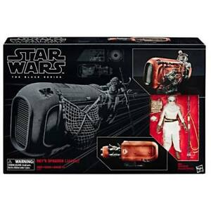 Hasbro-Exclusive-Star-Wars-Black-Series-REY-JAKKU-with-Land-speeder-mib-NEW