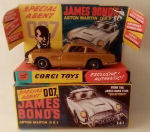 Corgi-Toys-261-James-Bond-039-s-Aston-Martin-D-B-5