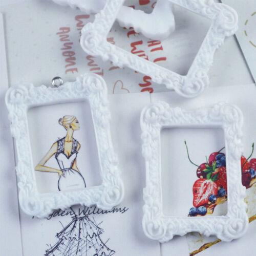 2pcs Dollhouse Miniature Art Picture Photo Painting Frame Home Decor 1:12 Scale