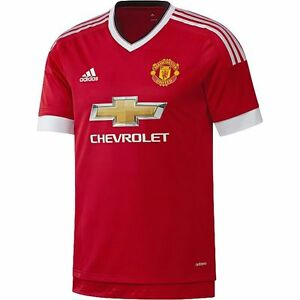 timeless design 52303 56878 Details about ADIDAS MANCHESTER UNITED AUTHENTIC HOME ADIZERO PLAYERS  JERSEY 2015/16.