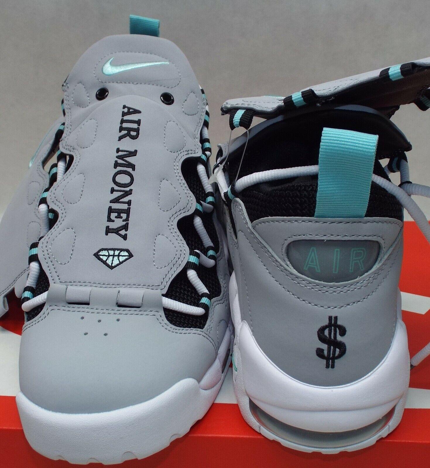 watch fd8f2 6ccee ... New Mens 9 NIKE Air More Money Wolf Grey Island Island Island Leather  shoes 160 AJ2998 ...