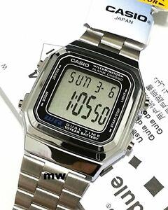 3d07029a698 Image is loading Casio-Silver-Retro-Vintage-Classic-Alarm-Digital-Unisex-