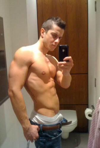 Shirtless Male Muscle Jock Athletic Guy Underwear Jeans Beefcake PHOTO 4X6 P559