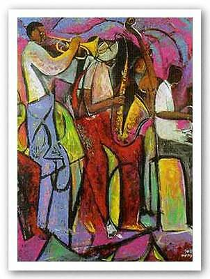 AFRICAN AMERICAN ART PRINT Center City Jazz by TWIN