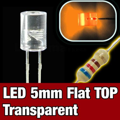 Flat TOP LED orange 10pcs 430O//10# LED 5mm cylindrique  orange  10pcs