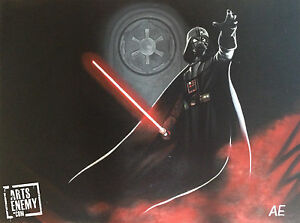 Image Is Loading Darth Vader Hand OIL PAINTING Canvas POP ART