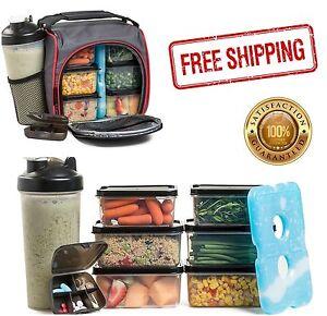 ... Meal-Prep-Bag-Snacks-Drinks-Prepping-Food-Containers-  sc 1 st  eBay & Meal Prep Bag Snacks Drinks Prepping Food Containers Lunch Box Gym ...