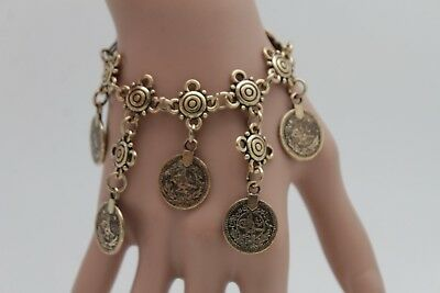 Women Fashion Western Boot Chain Bracelet Antique Gold Metal Ethnic Shoe Charm
