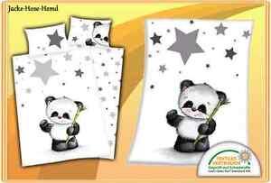 Babybettwäsche Babydecke Bettwäsche Kuscheldecke Panda Set Oder