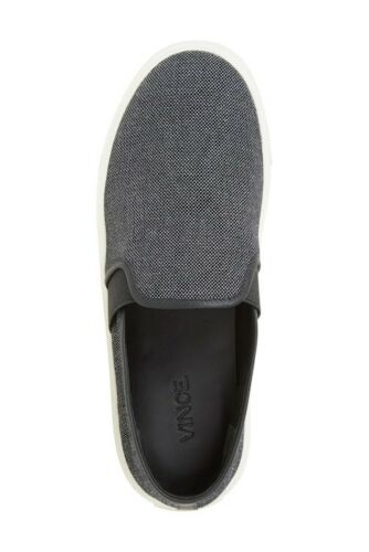 Us Vince Preston enfiler Taille 40 Noir Eur Nwob Charcoal Woven195 10 à Baskets doeBxC
