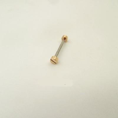 2pcs//Lot 4mm Screw in Head T-bar 1.5mm Tube for Tungsten Steel Ceramic Bracelet