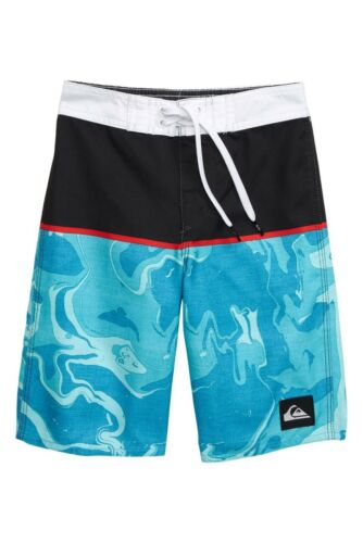 Quiksilver Boys Toddler 2//2T Board Shorts Everyday Down Under Blue Red White