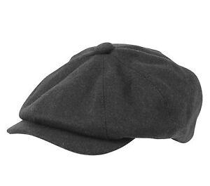 'Rob' Wool Blend Bakerboy / Newsboy/ Peaky Blinders Cap ...