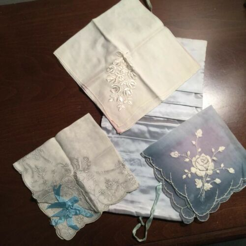 Antique Bridal Handkerchief..Something  Old, Somet
