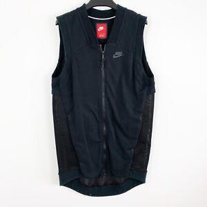 3332056c77d2 Nike Tech Fleece Cocoon Mesh Full Zip Sweatshirt Vest Black Sz Small ...
