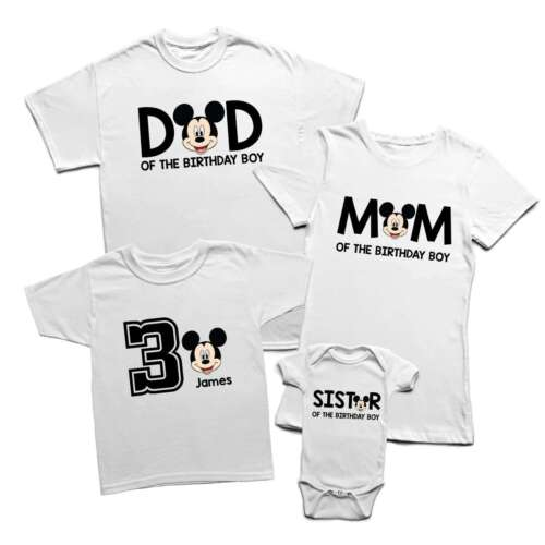 Birthday Personalised Family Matching Funny T Shirts