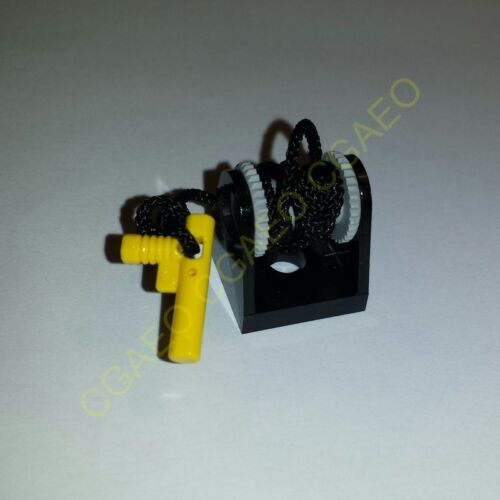 1 X  Lego 2584c09 String Reel 2 x 2 Complete with String and Yellow Hose Nozzle