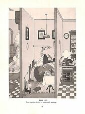 Flat life.1934.Chilly.Morning.W.Heath Robinson.Devices.Inventions