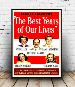 The-Best-years-Vintage-Movie-advert-Reproduction-poster-Wall-art