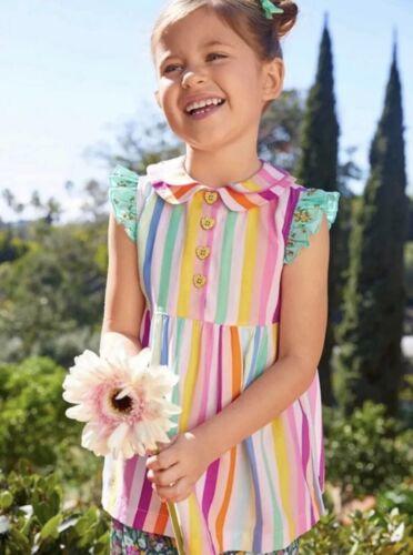 Size 6 New Matilda Jane Happy Thoughts Tunic Rainbow Stripes