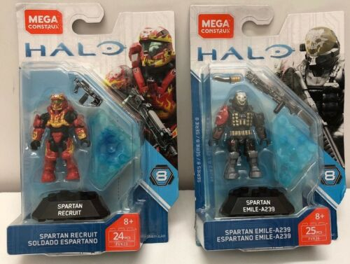 Halo Spartan Recruit And Spartan Emile FVK23 AND FVK26 MEGA HALO SERIES 8