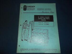crown b series stacker forklift parts service repair workshop manual rh ebay com