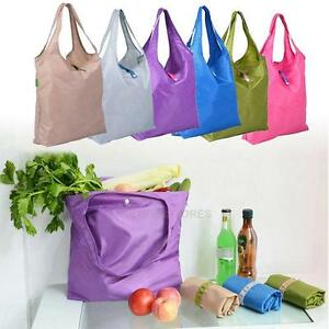 No-Logo-Large-Dacron-Folding-Travel-Grocery-Shopping-Storage-Bags-Tote-Han-hv2n