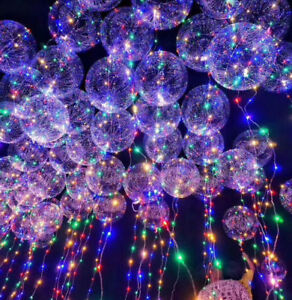 Image Is Loading Transpa Balloon Led String Lights Wedding Birthday Xmas