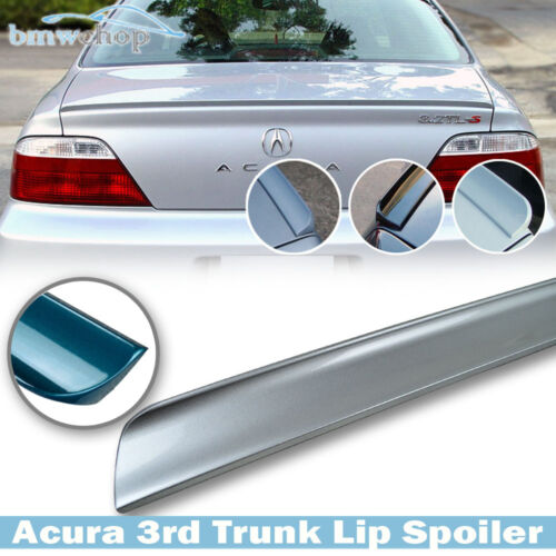 For acura TL 3rd III Sedan Painted #NH700M Alabaster Silver Trunk Lip Spoiler