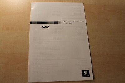 66922) Peugeot 807 - Preise & Extras - Prospekt 07/2003 Einfach Zu Schmieren