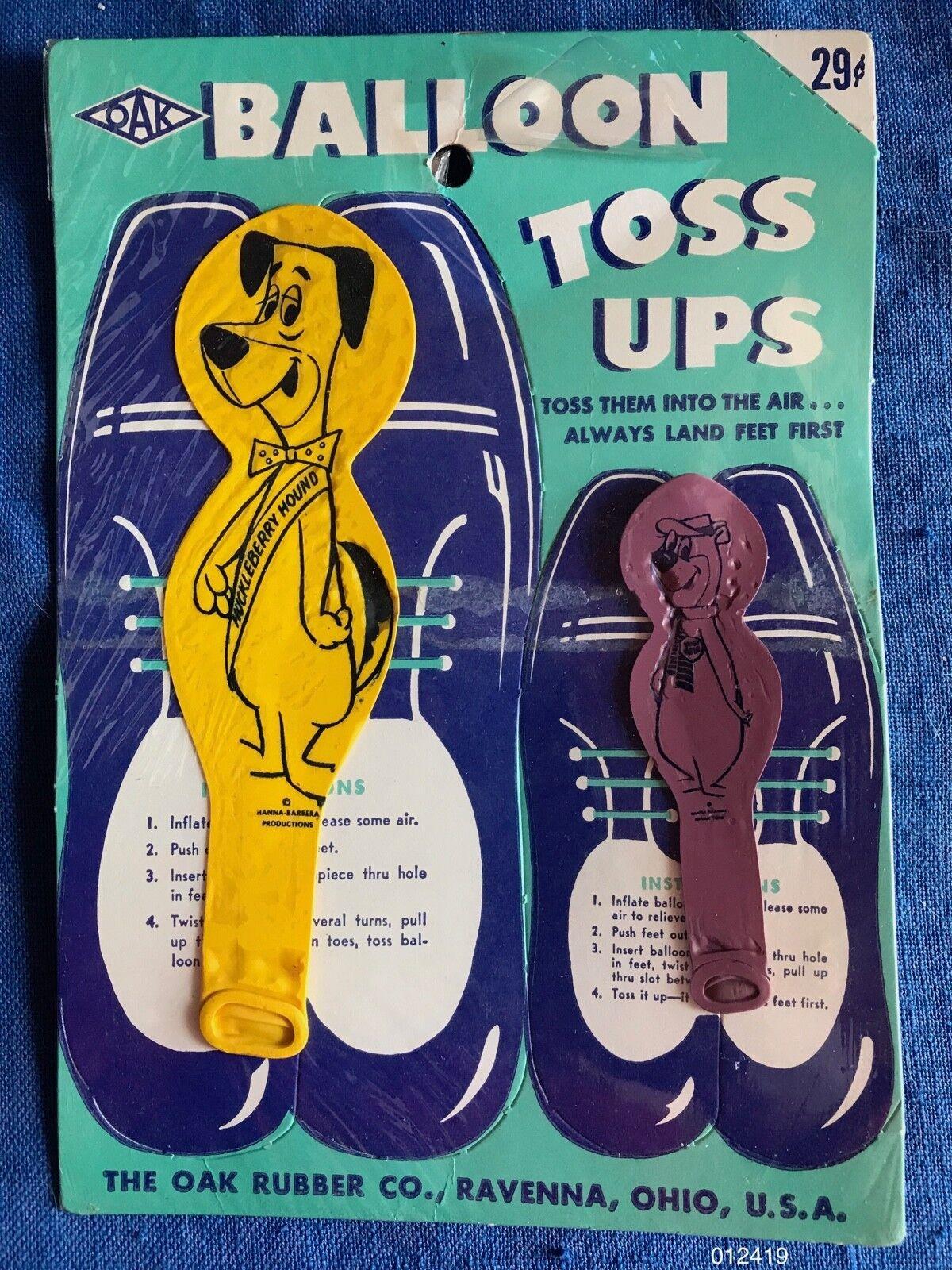 Vintage 1962 Roble Globo Toss Up Huckleberry Hound Oso Yogui de Cocheacteres como Nuevo MOC