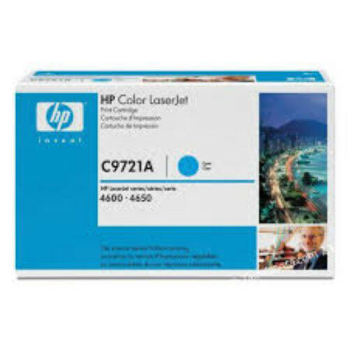 Cartouche de toner HP C9721A pour HP LaserJet 4600-4650 - Cyan - Original