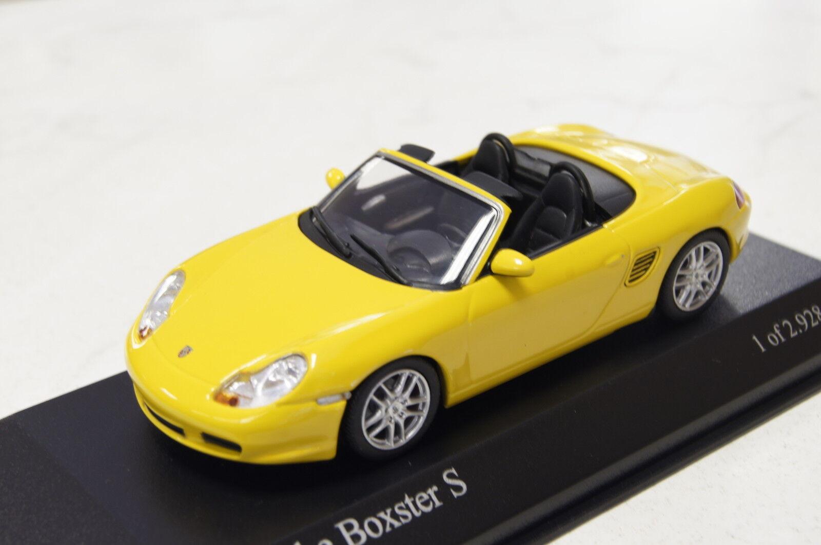 Porsche Boxster S 2002 gelb 1 43  Minichamps neu & OVP  | Günstige