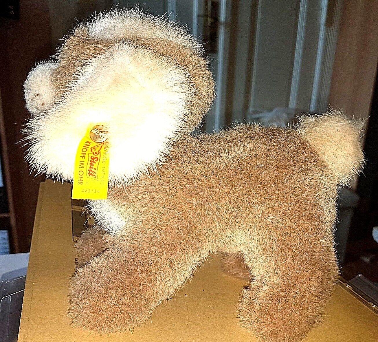 Steiff 081316 - Hund Drolly 22 cm mehrfarbig KFS mit Schleife TOP