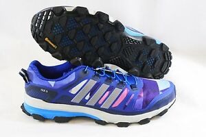 6fff3ba25788e NEW Mens Sz 9 ADIDAS Supernova Riot 6 B26545 Blue Purple Running ...