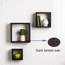 Set of 3 Storage Cube Floating Wall Shelves Shelf Box Display Wood Decor