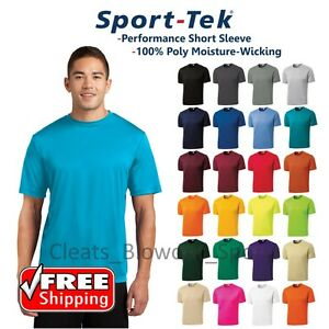 Mens-Sport-Tek-Dri-Fit-T-Shirt-Workout-Performance-Moisture-Wicking-Plain-ST350