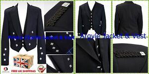 Best Argyle Jacket And Waist Coat Mixed Wool Prince Charlie Jacket And Vest Coats & Jackets