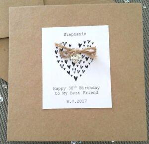 Best Friend 18th 21st 30 40 50 60th any Birthday Handmade ...