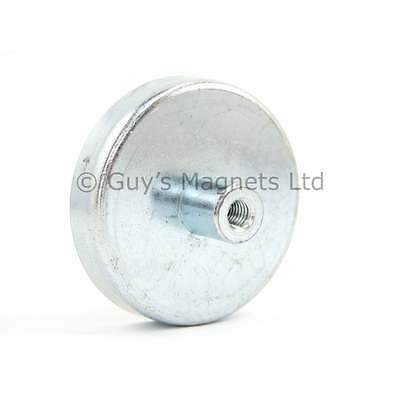 50mm dia x 10mm with M6 threaded hole Ferrite pot magnet (ONE MAGNET) 22kg pull