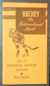 1956 57 Nhl National Hockey League Final Statistics Booklet Gordie