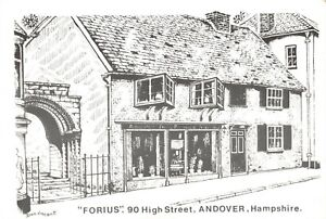 Art-Sketch-Postcard-FORIUS-90-High-Street-Andover-Hampshire-by-Don-Vincent-AS1