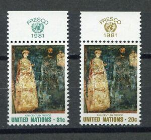 S9773) United Nations(Ny) MNH 1981, Art, Fresh 2v