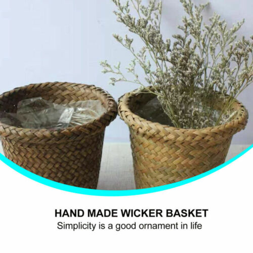 2pcs Flower Pots Durable Wicker Decorative Flower Pot for Home Office Garden