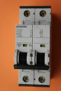 5SY6220-7 Siemens Circuit Breaker 2 Pole 20 Amp 400V New