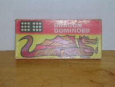 VINTAGE HALSAM DOUBLE NINE DRAGON DOMINOES IN BOX