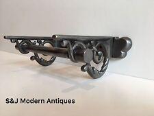 Vintage Toilet Roll Holder Cast Iron Victorian Edwardian Novelty Silver Grey Old